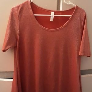 A little Sparkle! Red LulaRoe Perfect tee!